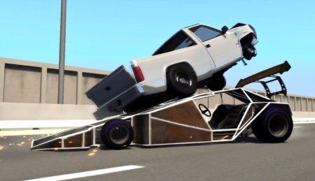 Скачать мод Ramp Car для BeamNG Drive 0.7+