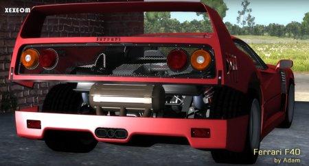 Скачать мод Ferrari F40 для BeamNG Drive