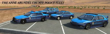 Скачать мод Пак Anne Arundel County Police Fleet для BeamNG Drive 0.8+
