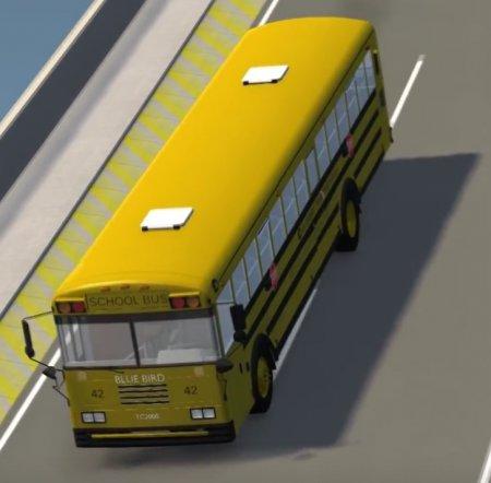 Скачать мод Blue Bird TC-2000 v3.0 + Skin Pack для BeamNG Drive