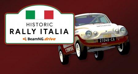 Скачать мод Historic Rally Italia версия 0.4 для BeamNG Drive v. 0.15