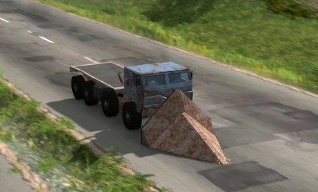 Скачать мод «CrashHard 8x8 BigRig Truck» версия 1.06 для BeamNG Drive v. 0.15